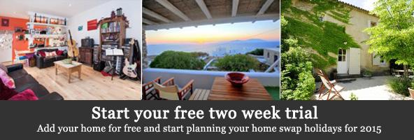 2 week free home swap trial