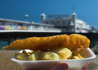 FISH AND CHIPS on Brighton Pier