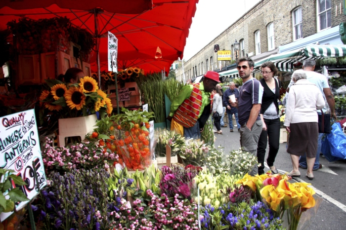 Columbia Road Flower Market in East London